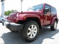 2012 Deep Cherry Red Crystal Pearl Jeep Wrangler Sahara 4x4  photo #3