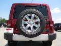 2012 Deep Cherry Red Crystal Pearl Jeep Wrangler Sahara 4x4  photo #6