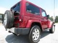 2012 Deep Cherry Red Crystal Pearl Jeep Wrangler Sahara 4x4  photo #7