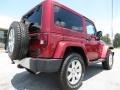 2012 Deep Cherry Red Crystal Pearl Jeep Wrangler Sahara 4x4  photo #7