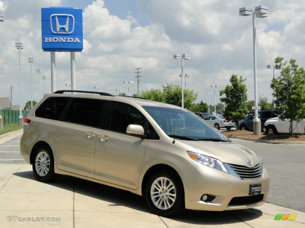 2011 Sienna XLE - Sandy Beach Metallic / Bisque photo #3