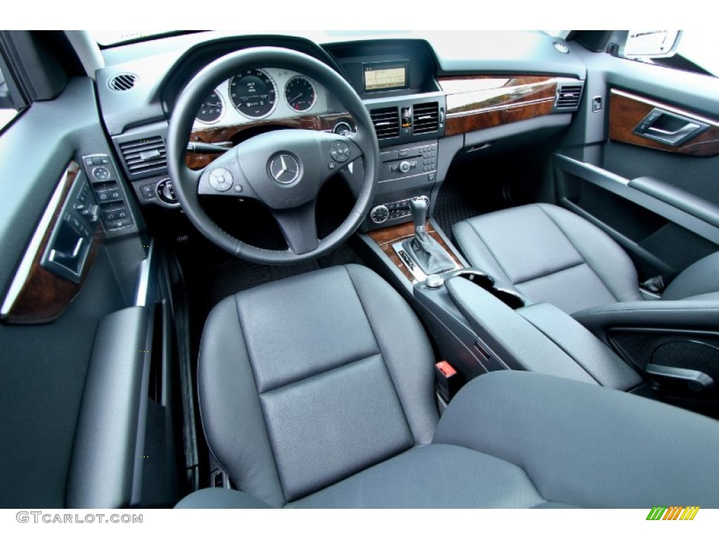 Black Interior 2012 Mercedes Benz GLK 350 4Matic Photo #65740528