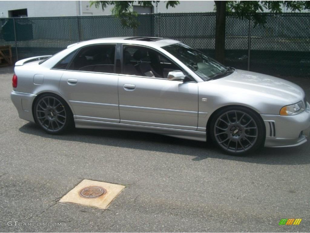 Light Silver Metallic Audi S T Quattro Sedan Exterior Photo - 2001 audi s4