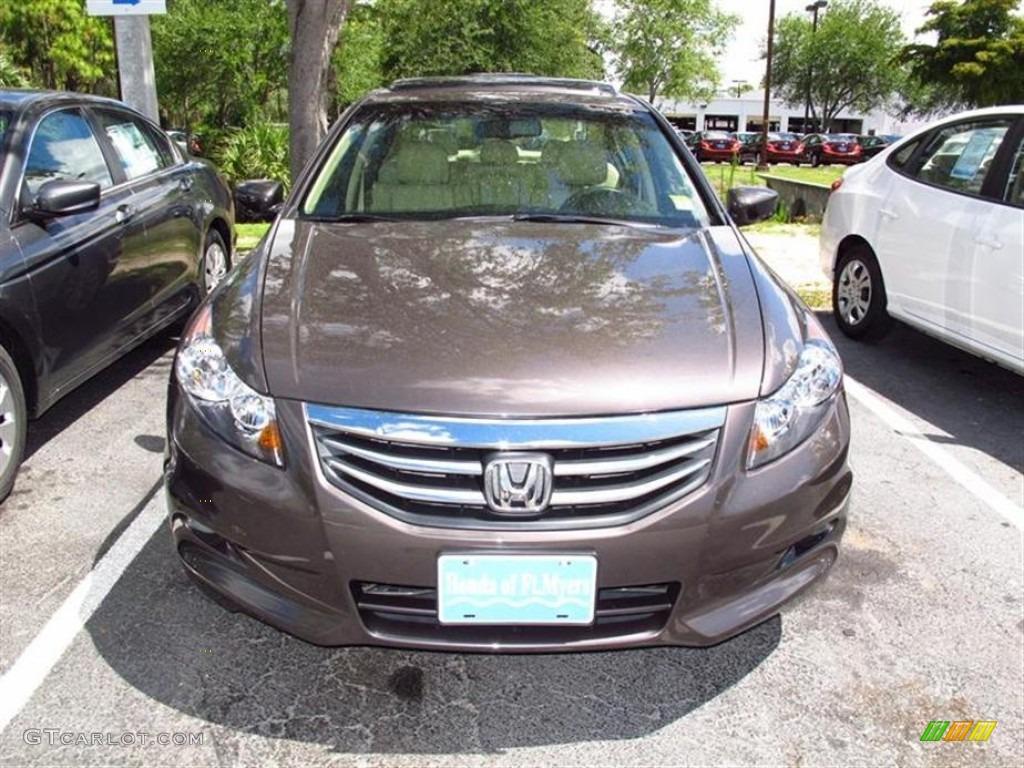 2011 Dark Amber Metallic Honda Accord Ex L V6 Sedan