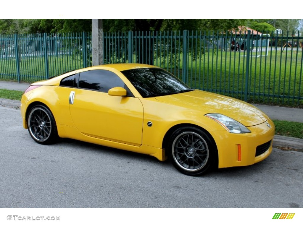 Ultra Yellow Metallic 2005 Nissan 350z Touring Coupe Exterior Photo 65770465