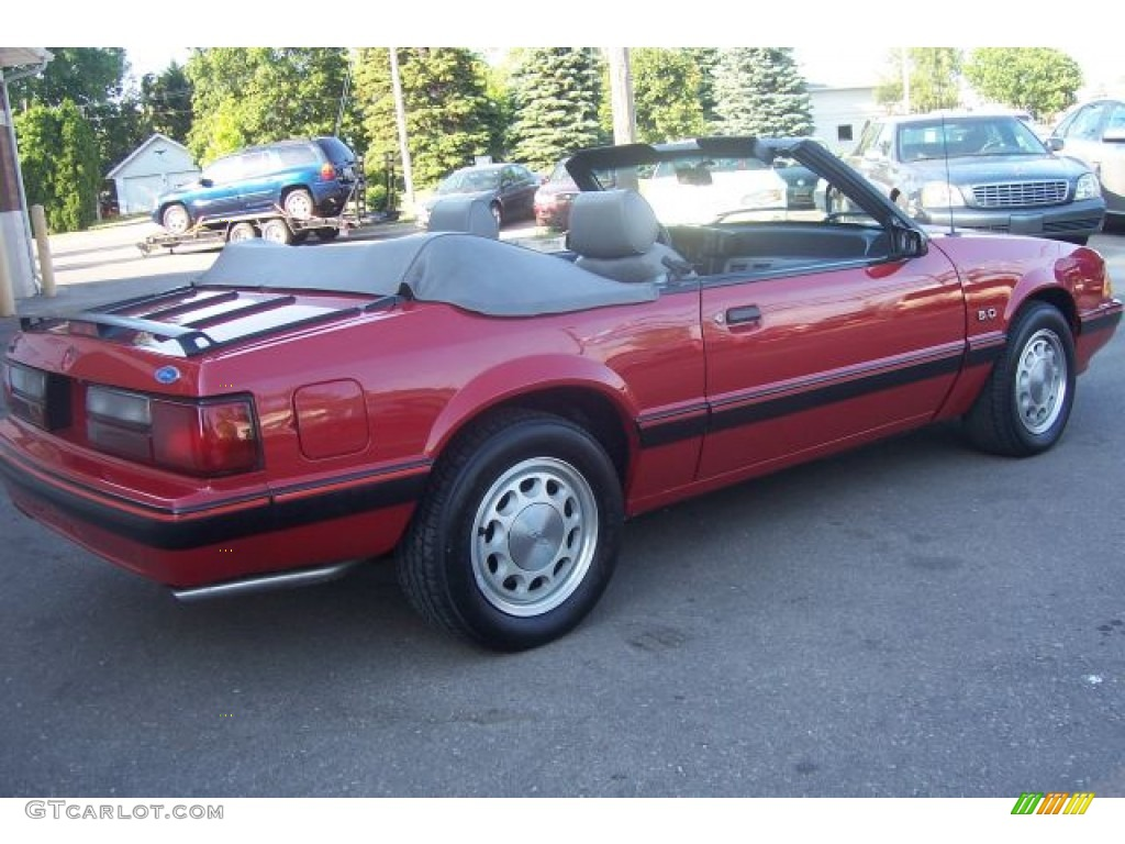 1987 Mustang Lx 5 0 Convertible Medium Cabernet Red Grey Photo 6