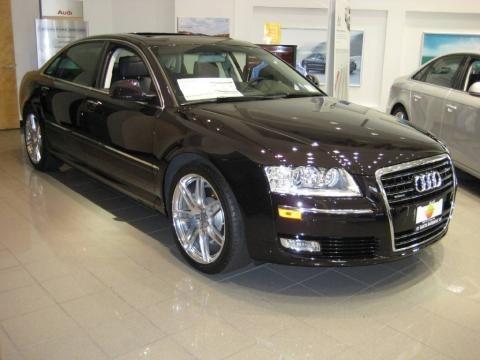audi a8 2009. 2009 Audi A8 Black Cherry