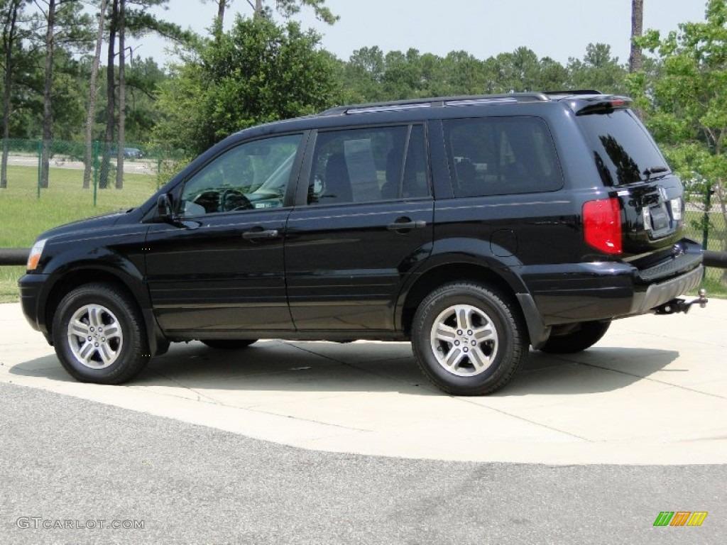 Marvelous Nighthawk Black Pearl 2004 Honda Pilot EX L 4WD Exterior Photo #65779826
