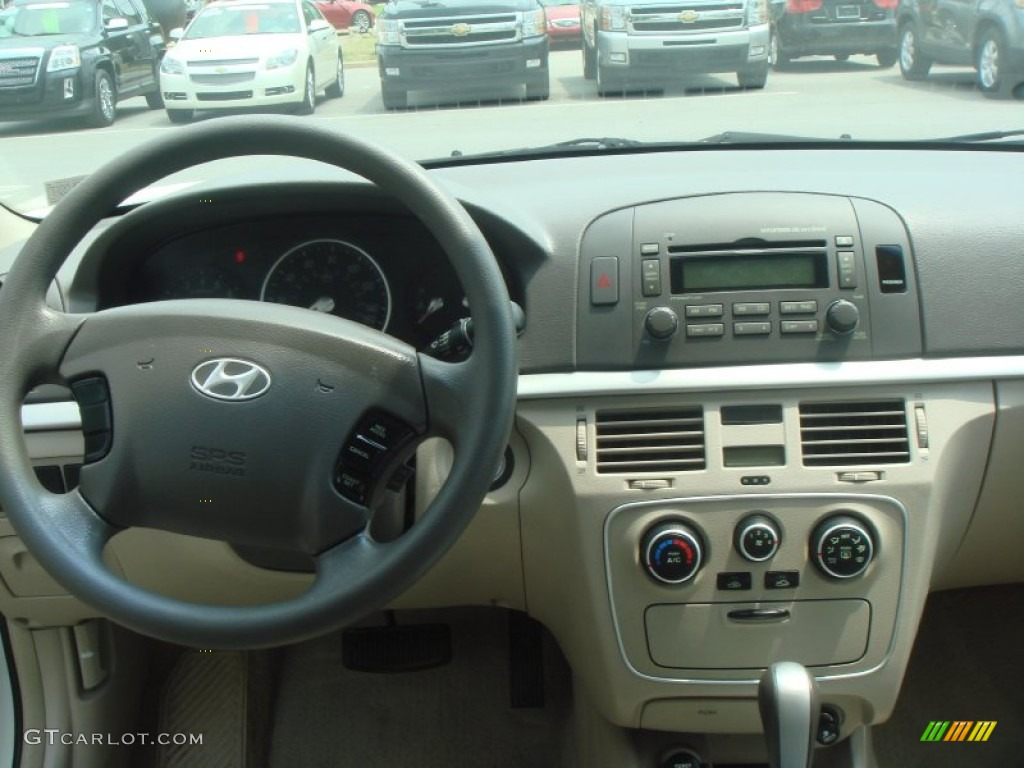 2007 Hyundai Sonata Gls Beige Dashboard Photo 65785100