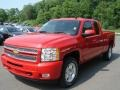 2012 Victory Red Chevrolet Silverado 1500 LT Extended Cab 4x4  photo #4