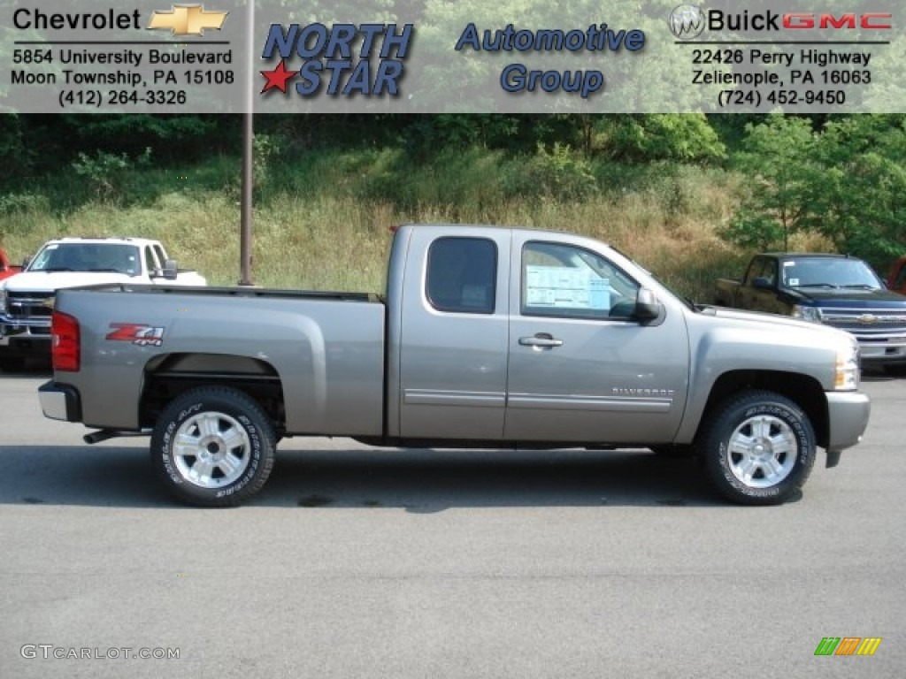 2012 Silverado 1500 LT Extended Cab 4x4 - Graystone Metallic / Ebony photo #1