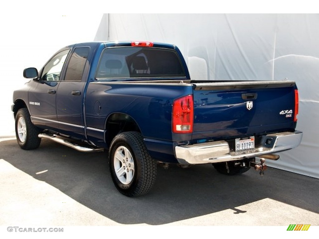 2006 Ram 1500 SLT Quad Cab 4x4 - Patriot Blue Pearl / Khaki Beige photo #2