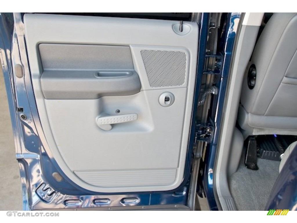 2006 Ram 1500 SLT Quad Cab 4x4 - Patriot Blue Pearl / Khaki Beige photo #27