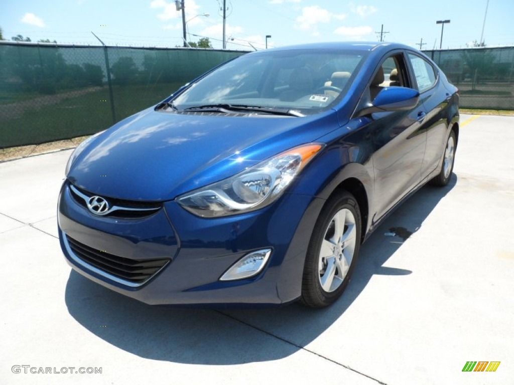 Atlantic Blue 2013 Hyundai Elantra Gls Exterior Photo