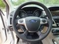 2012 White Platinum Tricoat Metallic Ford Focus SEL Sedan  photo #13