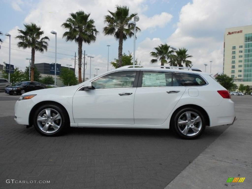 bellanova white pearl 2012 acura tsx sport wagon exterior. Black Bedroom Furniture Sets. Home Design Ideas