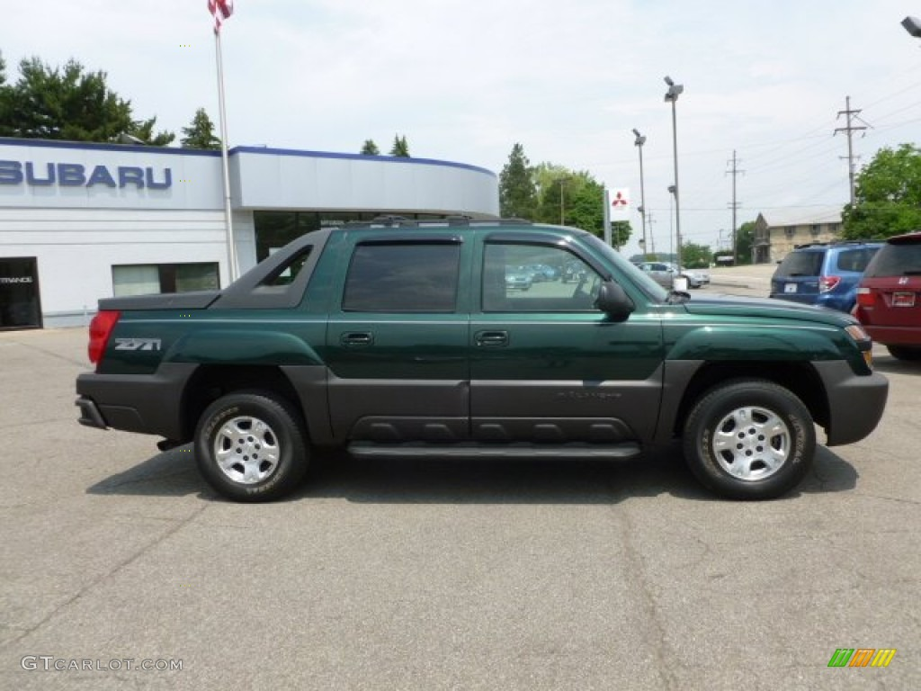 2003 dark green metallic chevrolet avalanche 1500 z71 4x4 65853802 photo 8. Black Bedroom Furniture Sets. Home Design Ideas