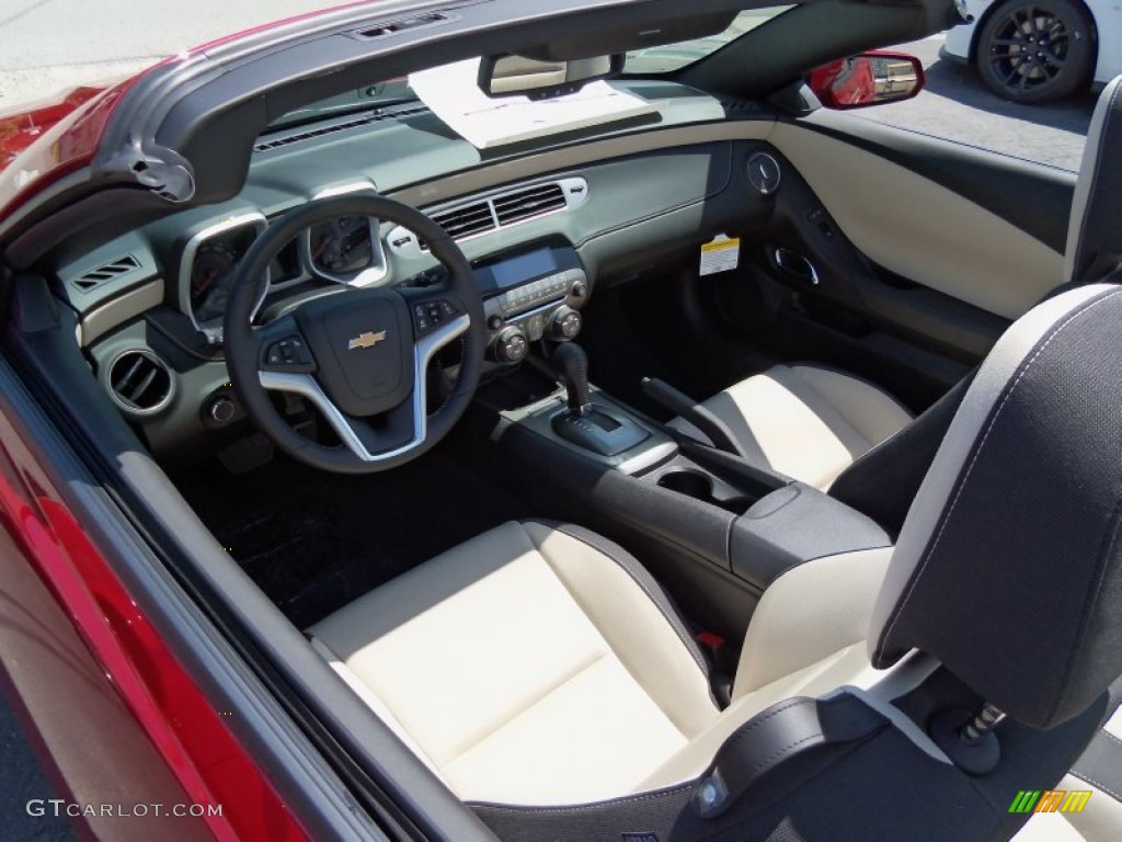 Beige Interior 2012 Chevrolet Camaro Lt Rs Convertible
