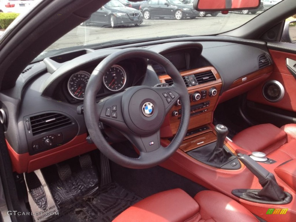 Indianapolis Red Interior 2008 Bmw M6 Convertible Photo 65863691