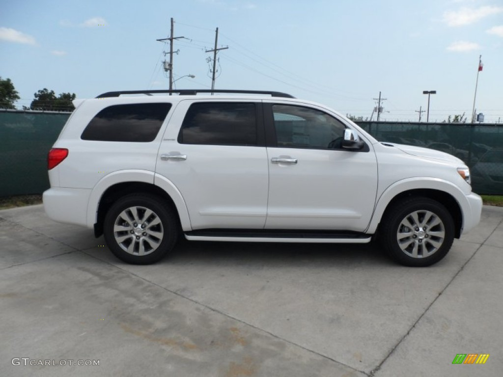 super white 2012 toyota sequoia limited exterior photo 65902823. Black Bedroom Furniture Sets. Home Design Ideas