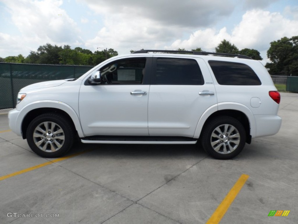 super white 2012 toyota sequoia limited exterior photo 65902862. Black Bedroom Furniture Sets. Home Design Ideas