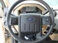 2012 Pale Adobe Metallic Ford F250 Super Duty XLT Crew Cab 4x4  photo #36