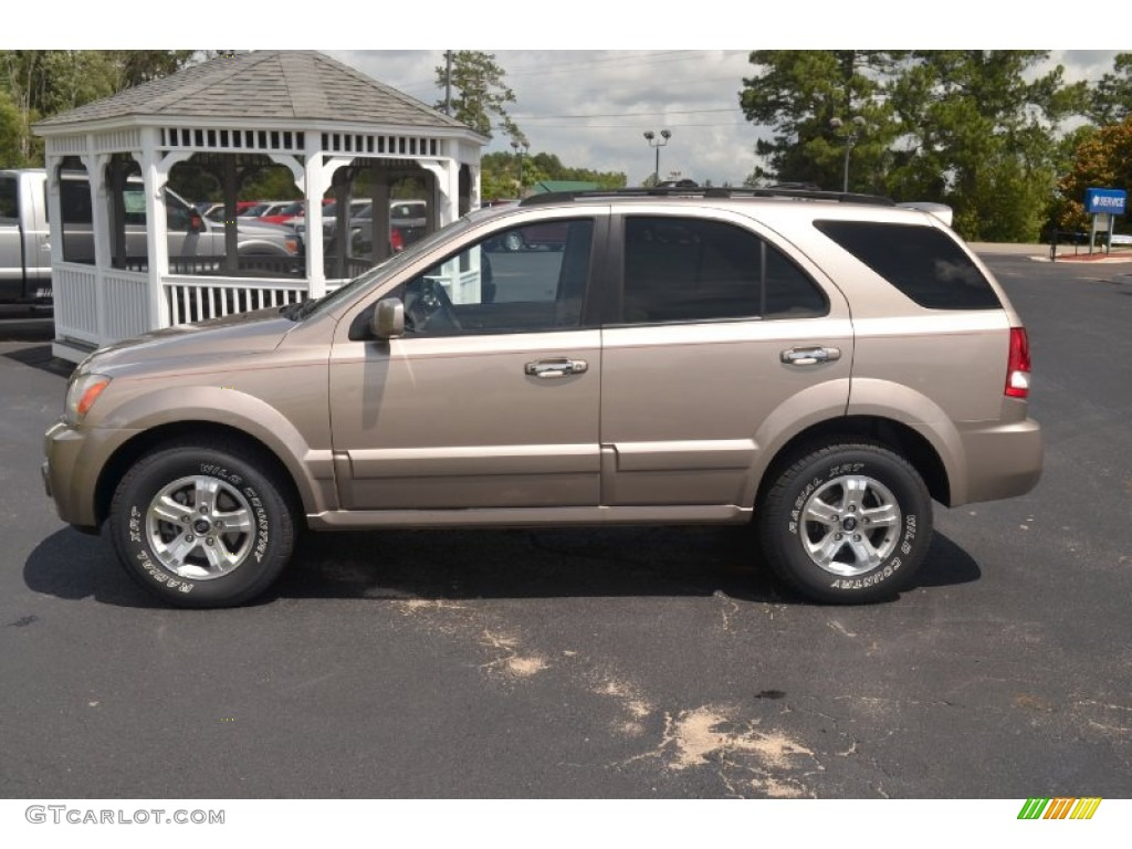 sand beige metallic 2005 kia sorento ex exterior photo. Black Bedroom Furniture Sets. Home Design Ideas