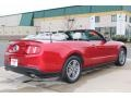 2011 Red Candy Metallic Ford Mustang V6 Convertible  photo #5