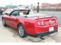 2011 Red Candy Metallic Ford Mustang V6 Convertible  photo #7