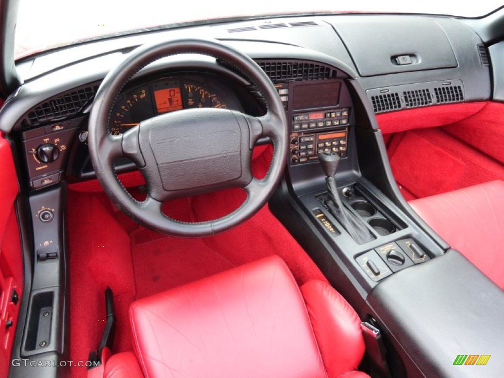 1992 chevrolet corvette convertible red dashboard photo 65928053 1992 corvette interior parts