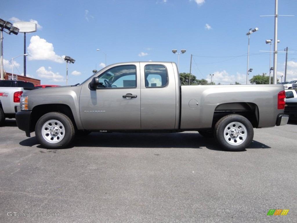2012 Silverado 1500 Work Truck Extended Cab - Graystone Metallic / Dark Titanium photo #1