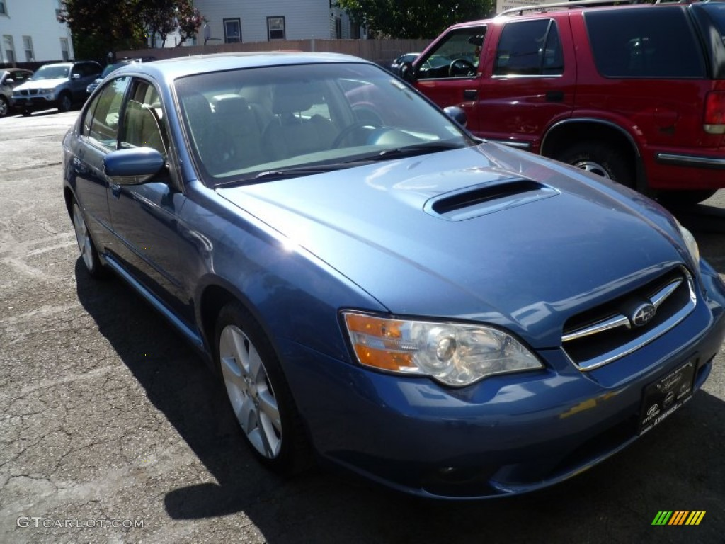 2007 legacy 2 5 gt limited sedan newport blue pearl ivory photo 1
