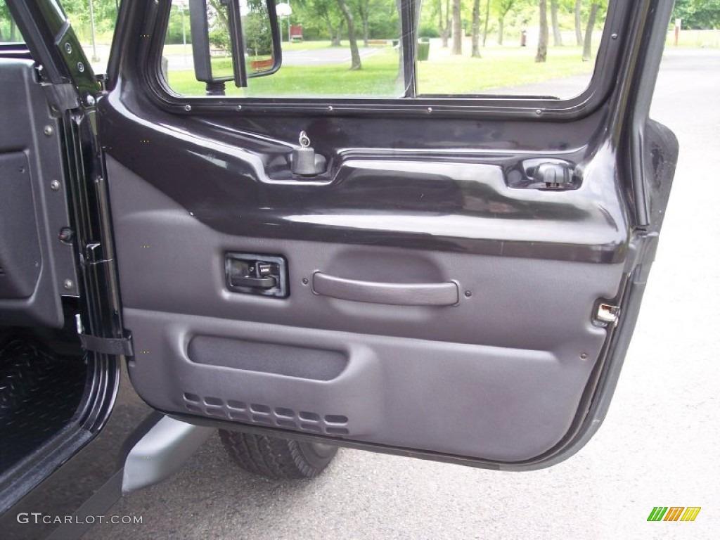 2000 Jeep Wrangler Sport 4x4 Agate Door Panel Photo