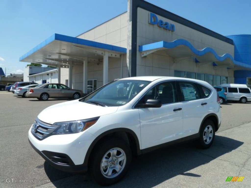 2012 CR-V LX 4WD - Taffeta White / Gray photo #1