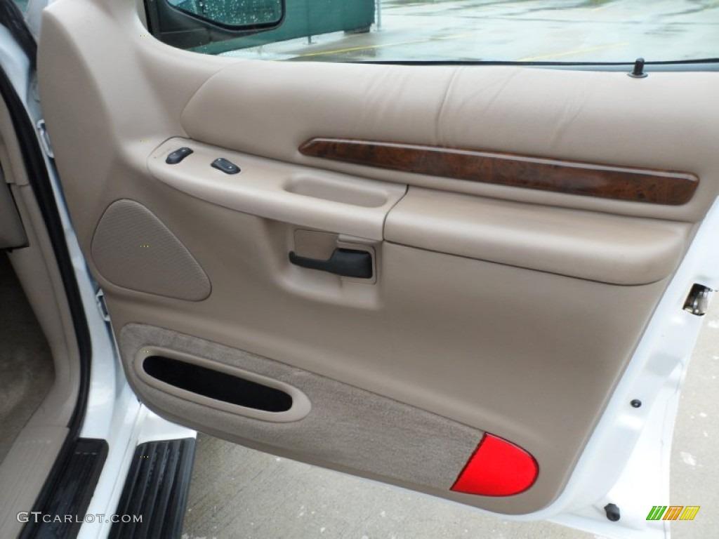 2000 Ford Explorer Limited Medium Prairie Tan Door Panel Photo #65958095