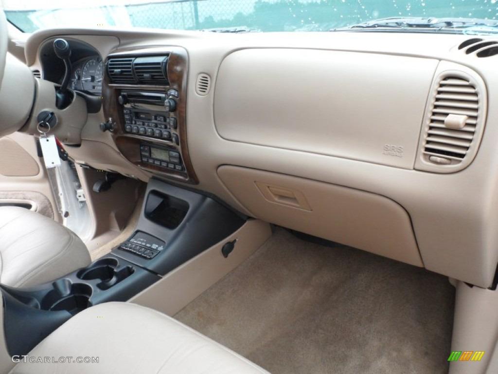 2000 Ford Explorer Limited Medium Prairie Tan Dashboard Photo #65958104
