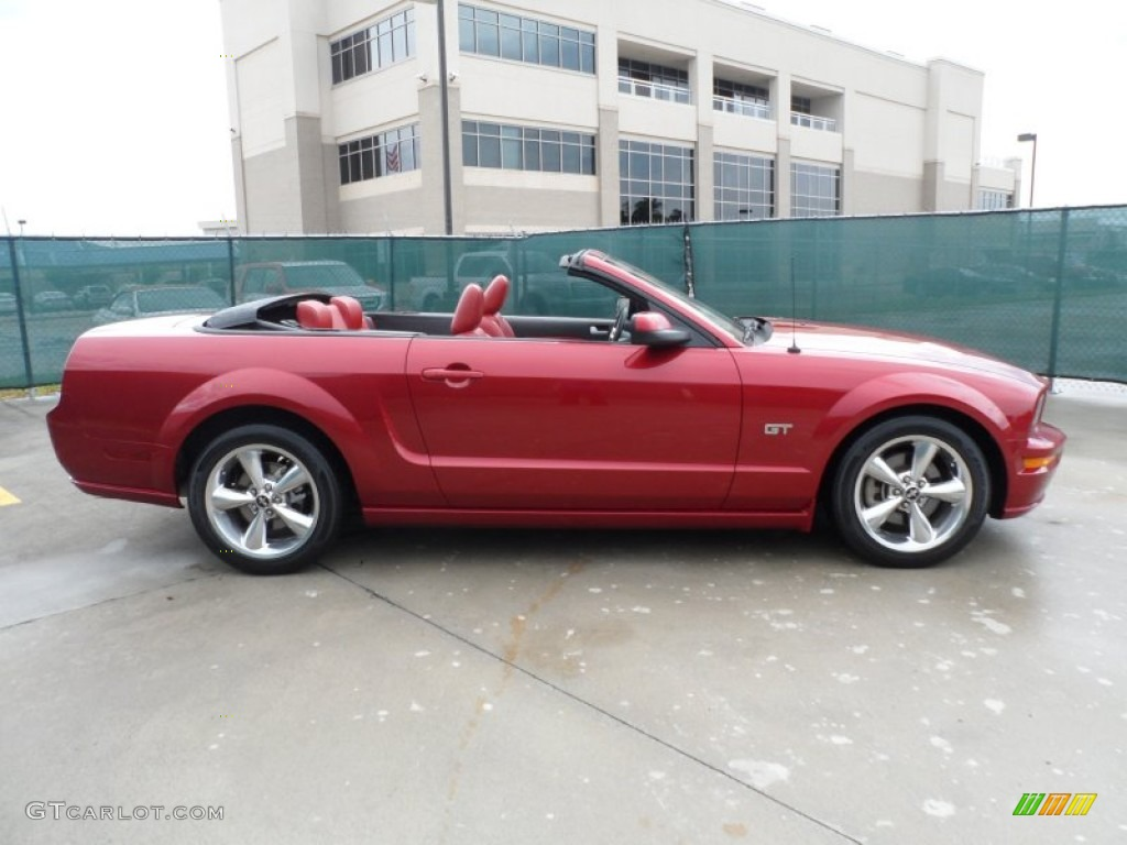 Redfire Metallic 2006 Ford Mustang Gt Premium Convertible