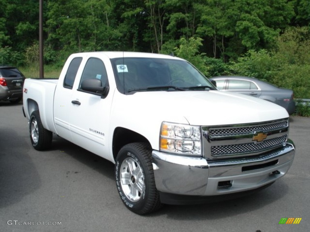 summit white 2012 chevrolet silverado 1500 lt extended cab 4x4 exterior photo 65969507. Black Bedroom Furniture Sets. Home Design Ideas