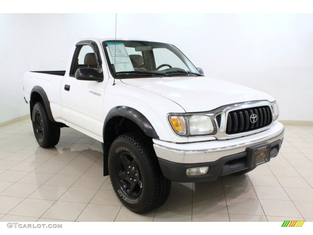 2001 super white toyota tacoma regular cab 4x4 65970811 photo 3 car color. Black Bedroom Furniture Sets. Home Design Ideas