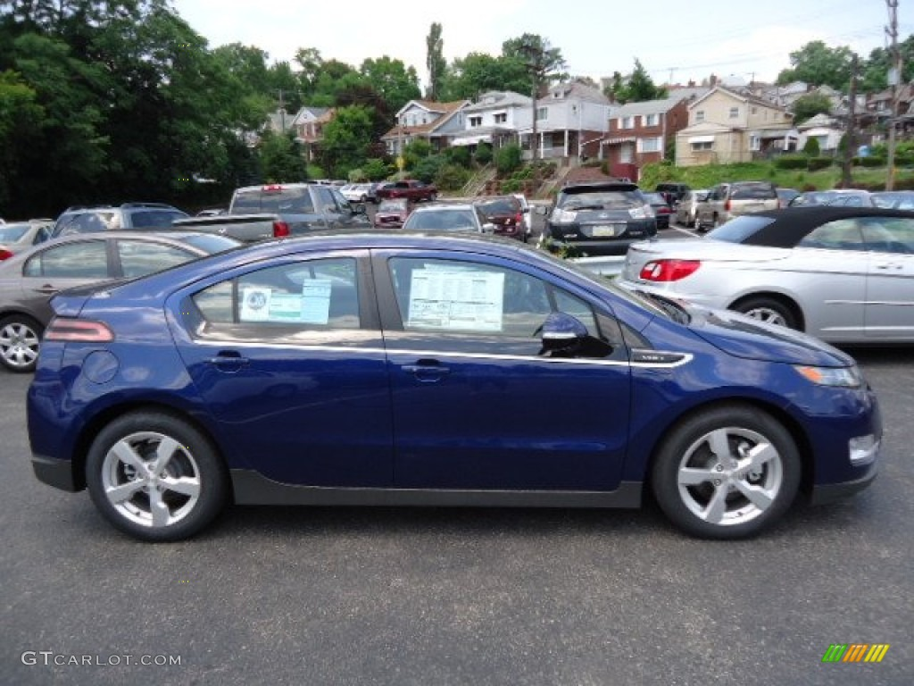 Blue Topaz Metallic 2012 Chevrolet Volt Hatchback Exterior Photo ...