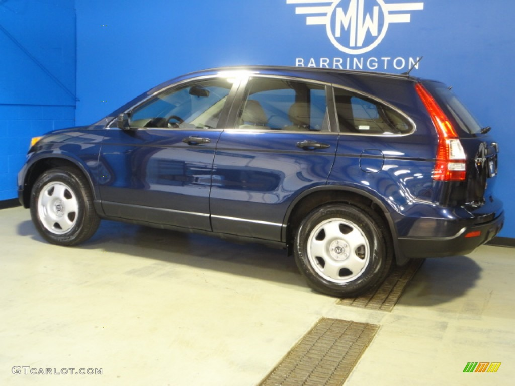 2008 CR-V LX 4WD - Royal Blue Pearl / Gray photo #4