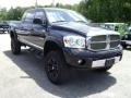 2008 Brilliant Black Crystal Pearl Dodge Ram 1500 Laramie Mega Cab 4x4  photo #3