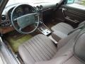 1987 SL Class Brown Interior
