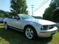 2007 Satin Silver Metallic Ford Mustang V6 Premium Convertible  photo #1