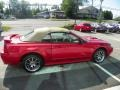 2001 Laser Red Metallic Ford Mustang GT Convertible  photo #7