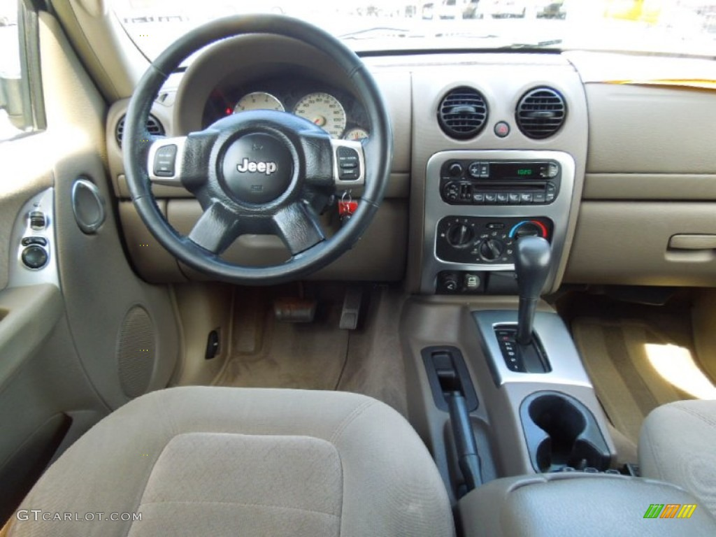 2006 Jeep Liberty Sport >> 2002 Jeep Liberty Limited Taupe Dashboard Photo #66020448 ...