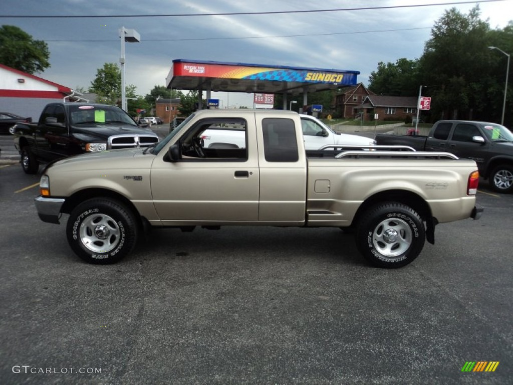 1999 Harvest Gold Metallic Ford Ranger XLT Extended Cab ...