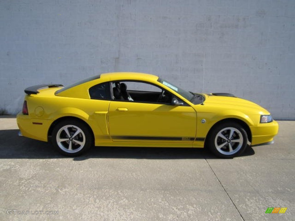 screaming yellow 2004 ford mustang mach 1 coupe exterior photo 66023181. Black Bedroom Furniture Sets. Home Design Ideas