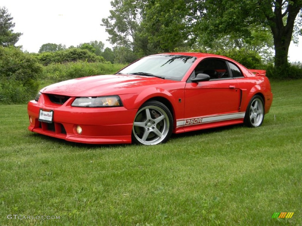 Torch Red 2002 Ford Mustang Roush Stage 3 Coupe Exterior Photo #66025425