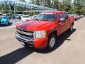 2009 Victory Red Chevrolet Silverado 1500 LT Crew Cab  photo #1